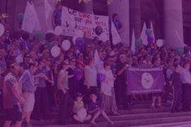 image of workers striking